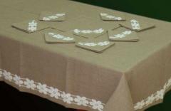 Ткань с вышивкой ( столовое и постельное бельё)