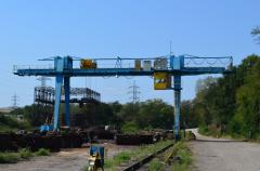 Gantry cranes from the producer of LLC HEZ PTM