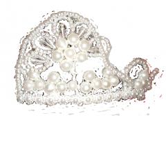 Корона с бусинок код 286-07-20