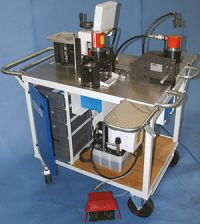 The hydraulic multipurpose machine for tires
