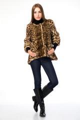 Short fur coat Lina Leopard Paola StarR 1425