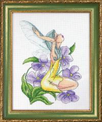 Набор для вышивания крестиком Фиалковая фея