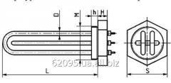 Blocks of tubular electric heaters