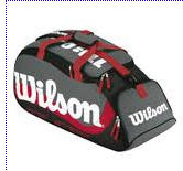 Sports bags with shoe pocket