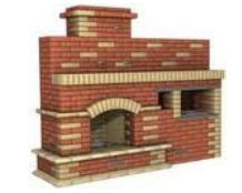 The brick is chimney. The brick is fire-resistant.