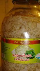 Pickled cabbage, sauerkraut, salads from cabbage,