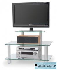 Стеклянные столы под телевизор, ТВ — тумбы на