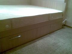Кровать двуспальная для ортопедического матраса