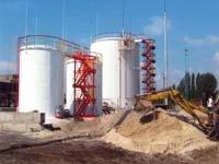 Работы по монтажу металлоконструкций вертикальных стальных резервуаров