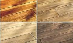 Flooring from pine, jointed and integral