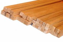 Lath assembly wooden dry calibrated and planed - a