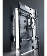 Locks of crossbar group for bank doors and doors