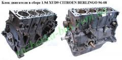 Блок двигателя в сборе 1.9d XUD9  CitroenBerlingo