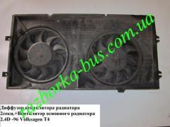 Вентилятор основного радиатора 2.4D -96 Volkswagen