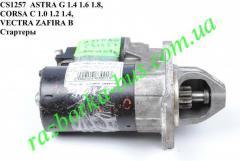 Стартер CS1257  ASTRA G 1.4 1.6 1.8, CORSA C 1.0