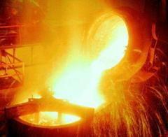 Equipment for production of castings from steel,