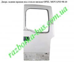 Door back right under glass low Opel Movano 98-10