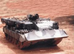 Бронированная эвауационная машина БРЭМ для эвакуации с поля боя техники, танков, САУ и выполнения землеройных и сварочных работ