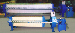 Filter presses for cleaning of sunflower oil