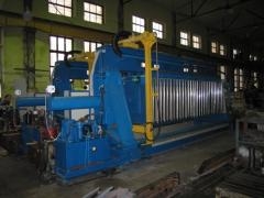 Filter presses for filtering of lead, copper, zinc