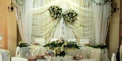 Свадебные букеты, оформление залов и подбор