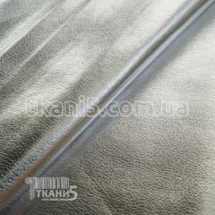 Ткань Кожзам на хб основе блестящий (серебро)