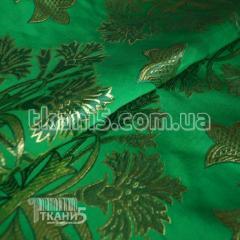Ткань Парча церковная уценка ( зеленый )