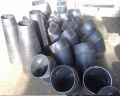 Design, production of shaped parts of pipelines