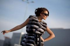 Fur vests from chinchilla