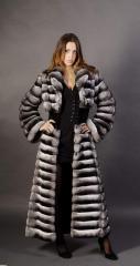 Fur coat from chinchilla