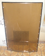 Double-glazed window with diode illumination