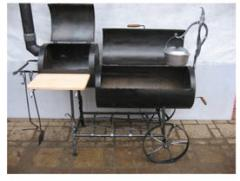 Braziers are shod. The barbecue is street. Shod