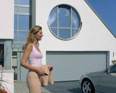 Ворота автоматические стальные для гаража.