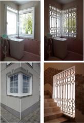 Стальные решётки  на окна раздвижные, распашные, защитные ShikMETAL.