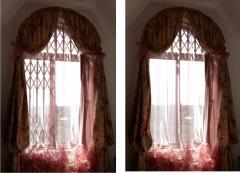 Решетки на окна  защитные раздвижные