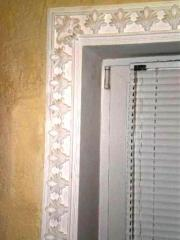 Finishing door (frame plaster stucco molding)