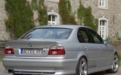 Overlay for a rear bumper (lip) of BMW E 39