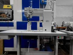 The sewing machine of the kolonkovy TTY type with