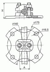 Опорный зажим АА-5-3