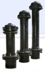 Hydrants fire N of 0,5 m - N of 2,5 m