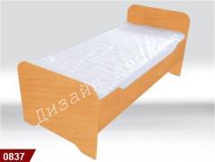 0837 Ліжко дитяче з заокругленням 1436х636х615мм