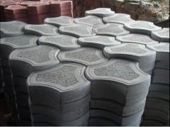 Плитка тротуарная Рокки 4, цвет серый. Производство тротуарной плитки, Днепропетровская область