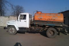 He car for cleaning of cesspools. Nikolaev