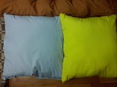 The pillow is wadded