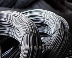 Low-carbonaceous steel wire without GOST 3282-74
