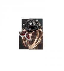 Золотое кольцо с гранатом К 5004