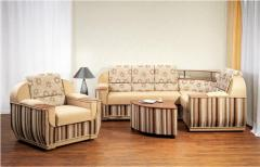 Upholstered furniture on a wooden framework of