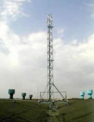 Мачты для сотовой сети на болтах повышенной