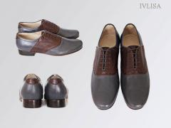 Men's leather shoes of handwork