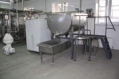 Equipment for production of cottage cheese